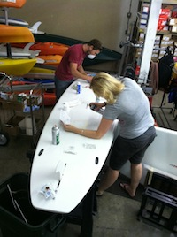 Paddle board repairs done at Mountain Recreation Grass Valley